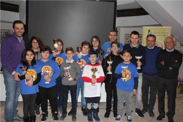 2018 CP TP - Foto di gruppo dei premiati del Campionato proviniale Esordienti