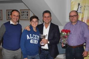 Vito Genovese 1° U14 premiato da Cerami, il ViceSindaco Licari e Colicchia