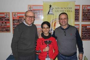 Giuseppe Salvato tra il Presidente della Lilybetana Enzo Colicchia e il Delegato FSI Trapani Giuseppe Cerami